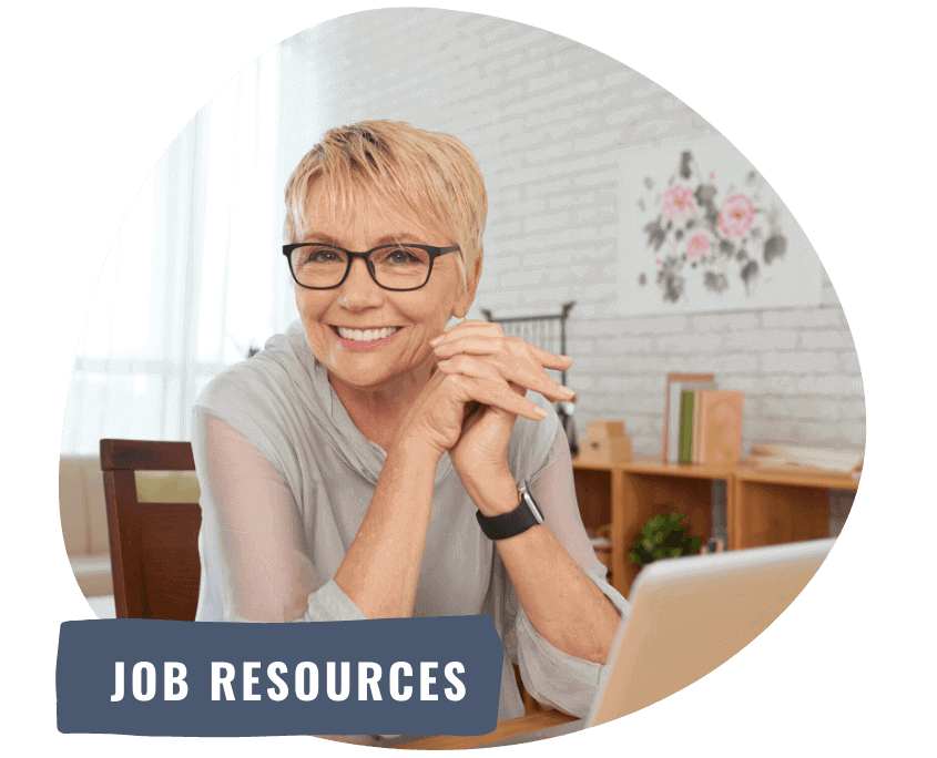 woman smiling about job resources