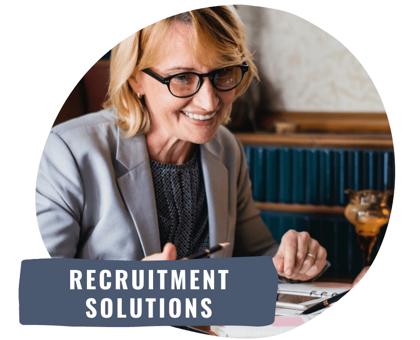 HR manager providing recruitment solutions
