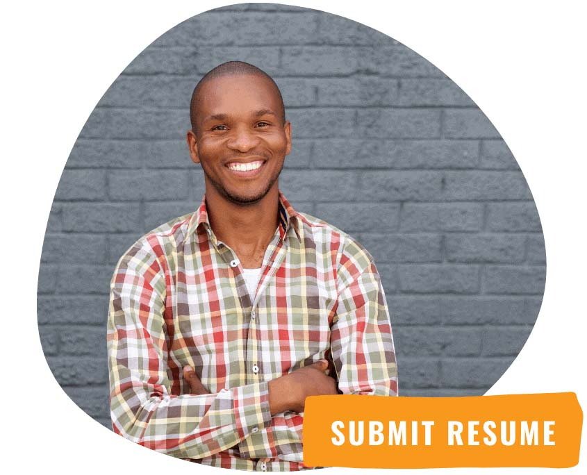 Man smiling after submitting resume